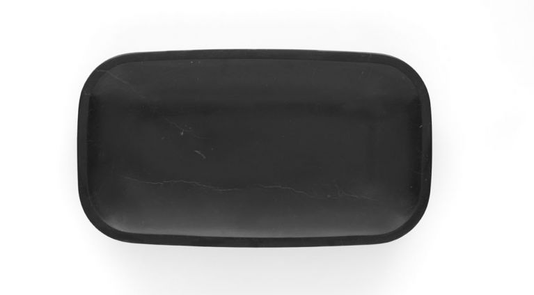 Fruit bowl Pina in black marquina marble