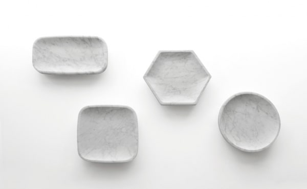 Fruit bowl in white carrara marble by James Irvine