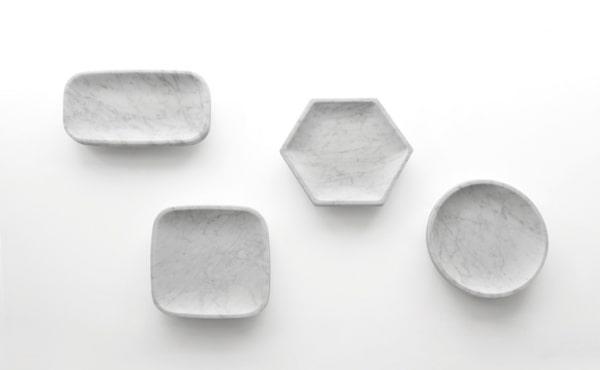 fruit bowl in white marble byJames Irvine