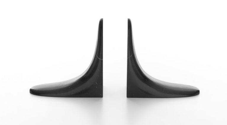book end in black marble