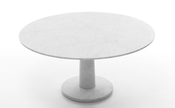 dining table Pondicherry in white carrara marble