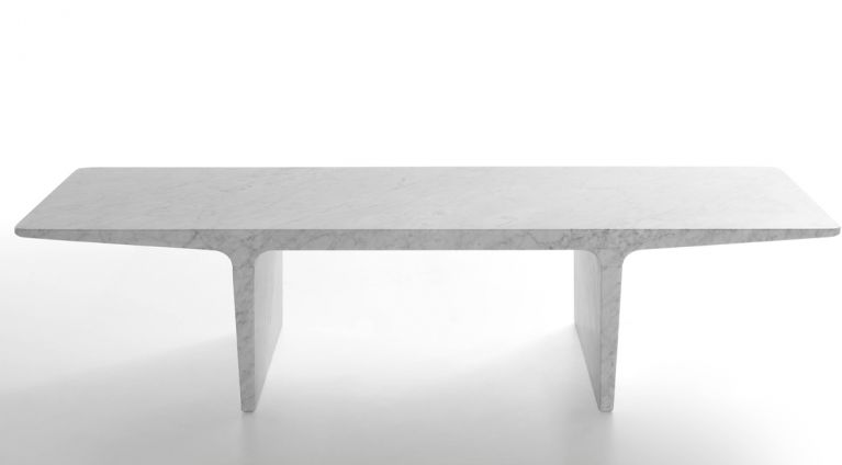 Low table Ponte in marble design by James Irvine