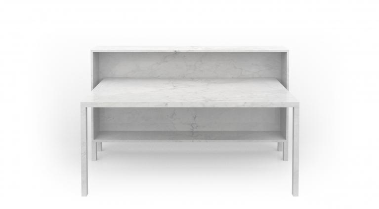 desk rendez vous 105 in marble