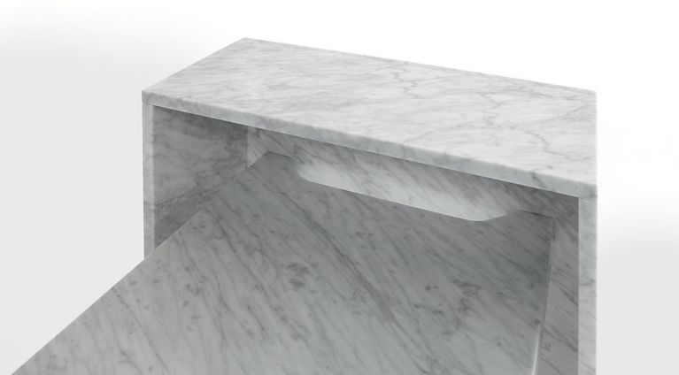 desk rendez vous 110 in marble