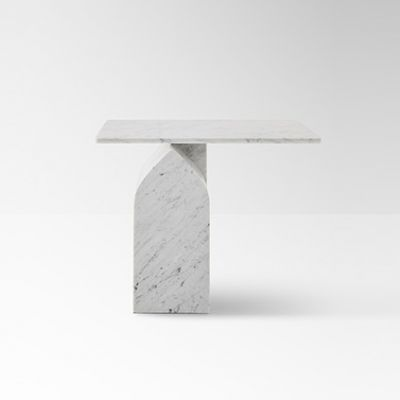 Seesaw 50 side table in marble