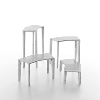 Sid side tables in marble