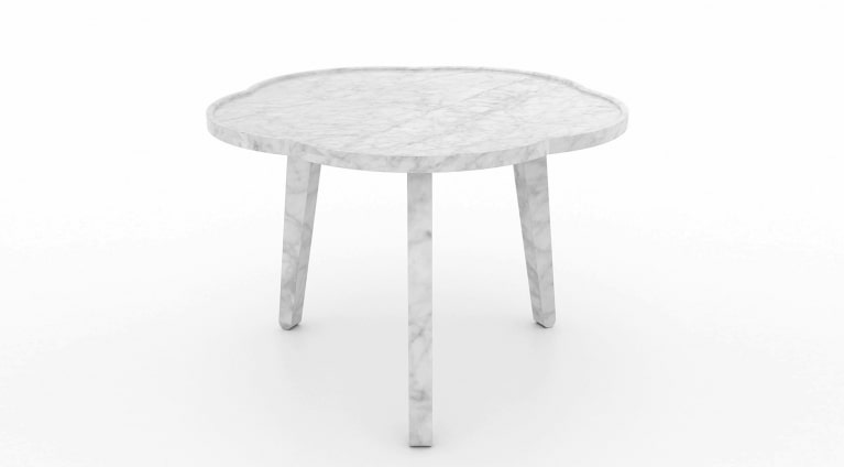 low table Soya in white carrara marble
