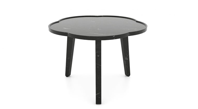low table Soya in black marquina marble