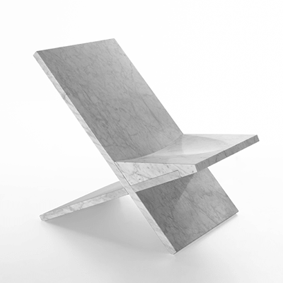 Sultan chair in marble