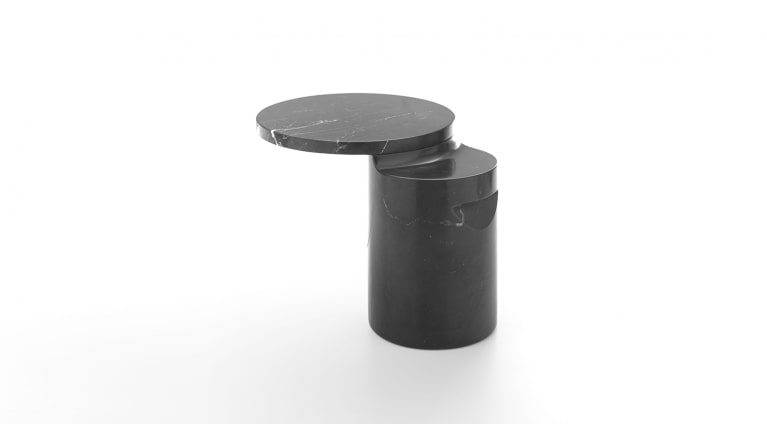 Taksim side table in black marquina marble