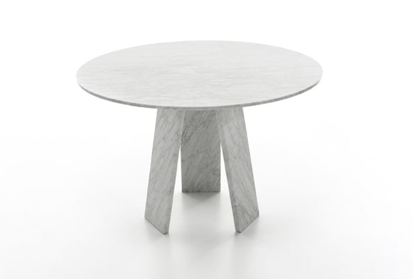 dining table by Konstantin Grcic in White Carrara marble Topkapi 3