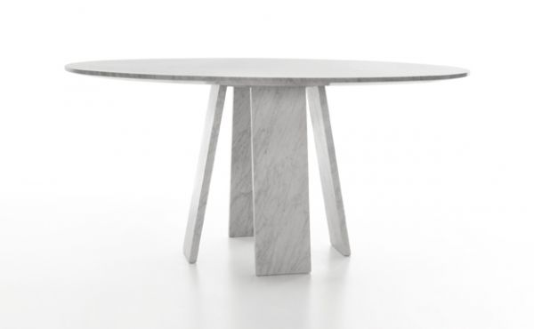 Topkapi 4 dining table in marble by Konstantin Grcic