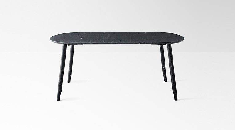 Ballerina 72 dining table in black marquina marble