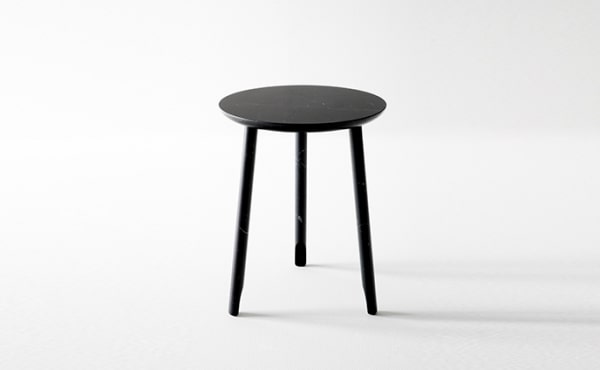 Ballerina round low table in black marquina marble