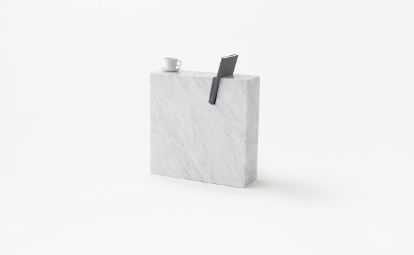 book stand in white carrara marble Gap
