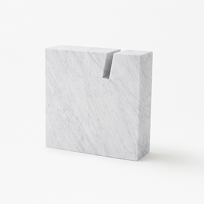 Side table or book stand in White Carrara marble Gap