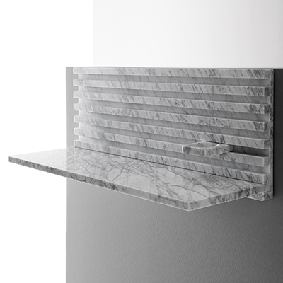 Place desk in marble