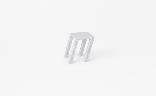 side table Nod in marble design by Nendo Oki Sato