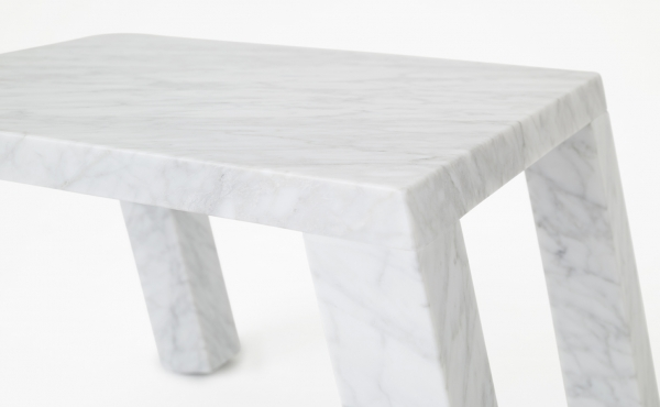 side table in white marble Nod