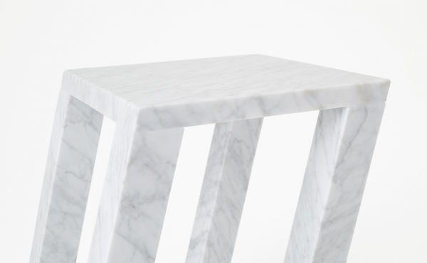side table Nod design by Nendo Oki Sato in marble