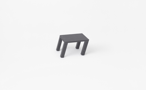 side table in black marble Nod