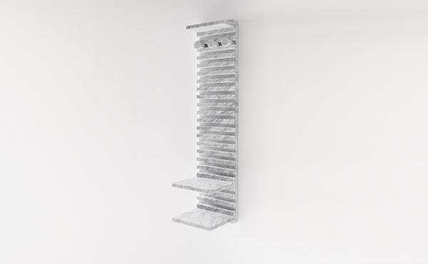 Place wardrobe Philippe Malouin 2017 Appendiabiti, sistema modulare a parete, in marmo Bianco di Carrara