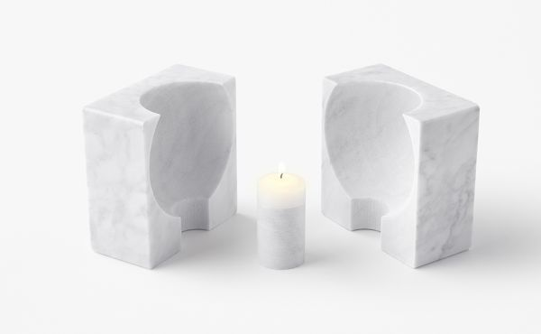 candle holder in marble