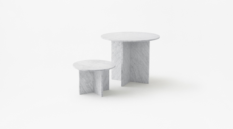 Low tables Split design by Nendo-Oki Sato