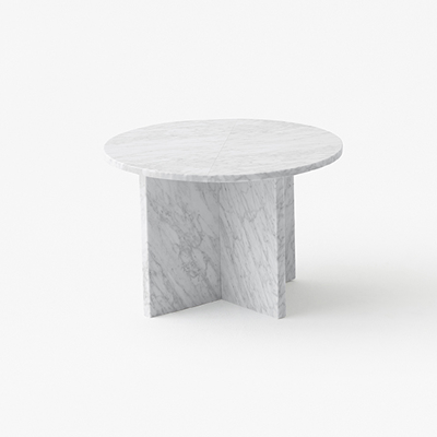 Split low table in marble