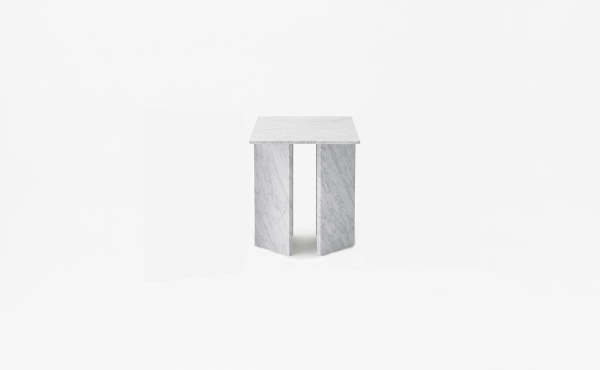 square modular table Split Joint  in marble