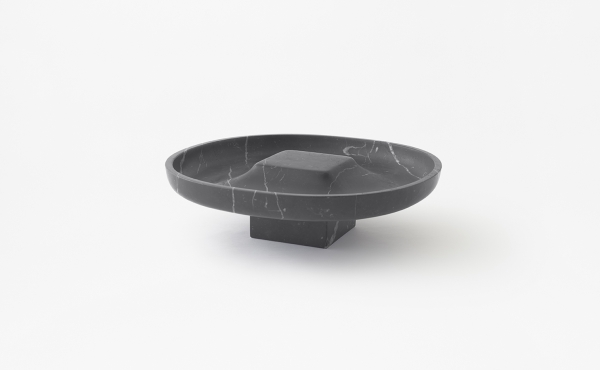 Underbowl L bowl in black marquina marble
