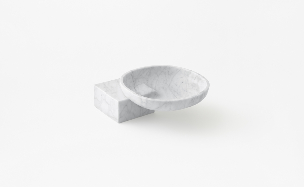bowl in white marble